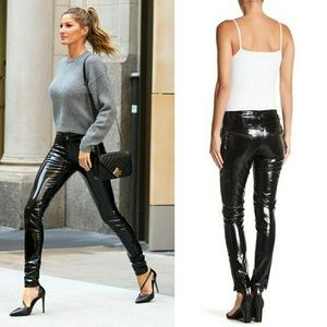 TOV Holy Skinny Cat Woman Patent Shiny PVC Pants M